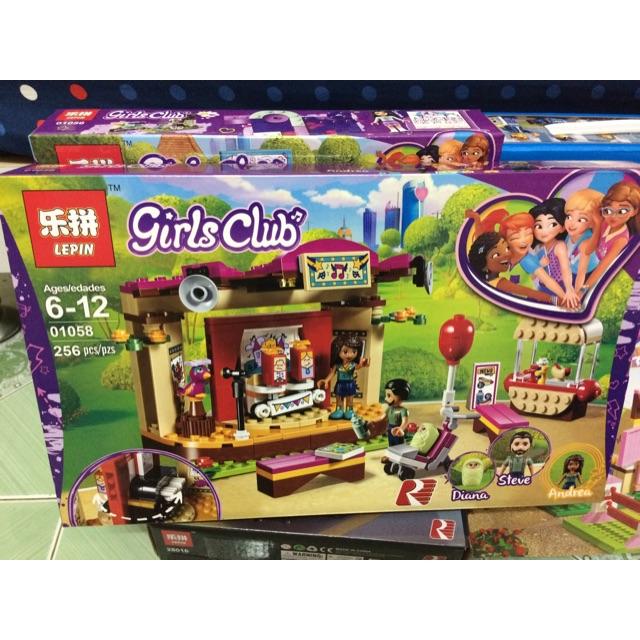 |Đồ Chơi Trẻ Em| Mẫu xếp Hình Lepin 01058 Girls Club (256 mảnh)