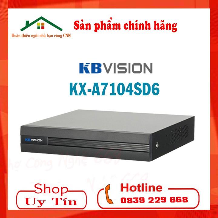 Đầu Ghi Hình 4 Kênh 8 kênh 5 in 1 KBVISION KX- A7104SD6 ( 7104sd6), A7108SD6 (7108SD6)  - Hàng Chính Hãng