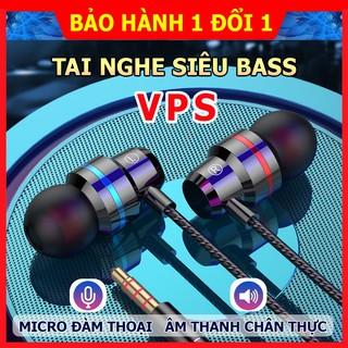 Tai nghe VPS, tai nghe nhét tai có dây thế hệ mới âm thanh chất lượng cao, có mic đàm thoại và thanh chỉnh âm lượng