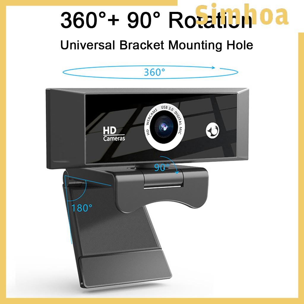 Webcam Usb Kèm Micro Thiết Kế Đơn Giản Dễ Lắp Đặt Tiện Dụng Cho Máy Tính / Laptop