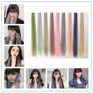 Kẹp tóc giả thẳng nhuộm màu phong cách hợp thời trang cho nữ