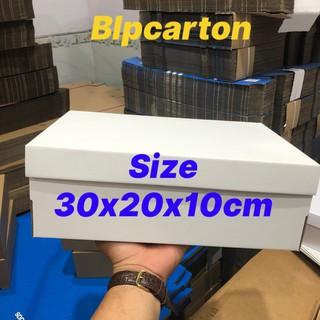 Hộp carton đựng giày, phụ kiện size 30x20x10cm