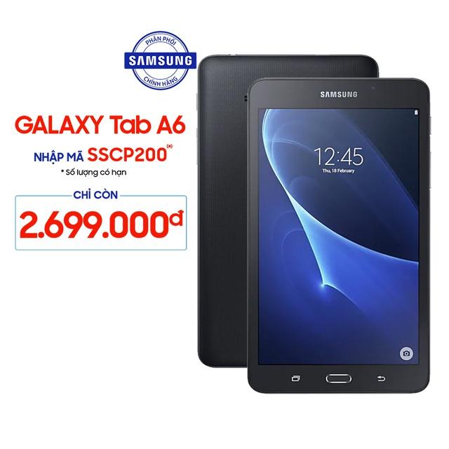 (Nhập SSCP200 giảm 200k) Máy Tính Bảng Samsung Galaxy Tab A6 1.5GB/8GB (T285) - Hãng Phân Phối Chính Thức