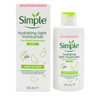 (MẪU MỚI NHẤT) Kem dưỡng da Simple Kind To Skin Hydrating Light Moisturiser