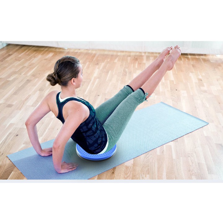 Đĩa xoay eo tập thể dục 360 độ bàn xoay tập cơ bụng cho eo thon tại nhà và phòng gym có hạt massage bàn chân cực tốt [Gi