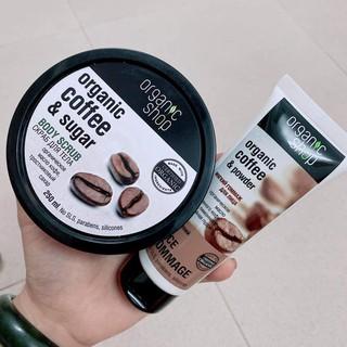 TẨY DA CHẾT CAFE Body Organic Shop - Tẩy Tế Bào Chết Coffee & Sugar Body SCRUB Dưỡng Da Trắng Sáng Nga