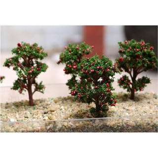 [Mã TOYSEP giảm 10% tối đa 15K đơn bất kỳ] Mô hình cây táo đỏ để trang trí nhà búp bê, bonsai, miniatures(TREE-05)