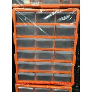 Hộp tủ Phân loại gạch Lego loại 18 ngăn to ( khung màu cam )