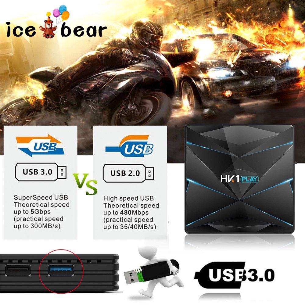 Bộ hộp TV ICEBEAR HK1 Play Android 9.0 S905X2 DDR4 2G 16G
