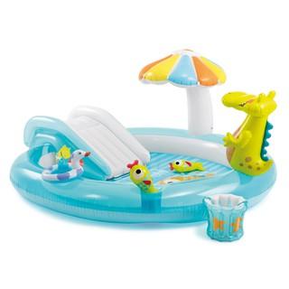 Bể bơi phao cầu trượt cá sấu chúa Intex 57129 tặng bơm điện
