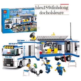 Lắp ráp xếp hình Lego city bela 10420 Xe Cảnh Sát Di Động. thumbnail