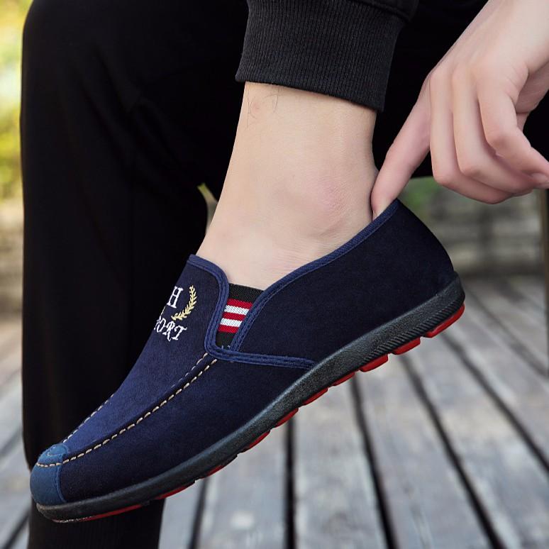Giày Lười Chất Da Lộn Nam Phong Cách Lịch Lãm