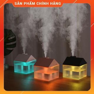 Máy Phun Sương Tạo Đọ Ẩm Không Khí – Xông Tinh Dầu Hình Ngôi Nhà [MẪU MỚI 2020] 💎 250ML 25-35ML/H 💎 ĐÈN LED