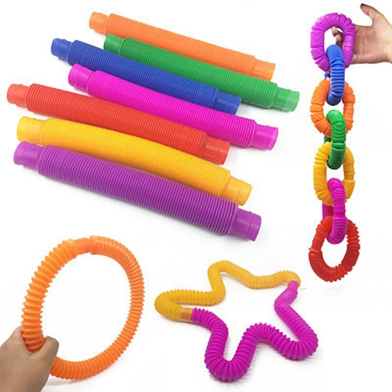 YOUN Children's Sensory Toys, Decompression Toys, Extension Tubes , Random Colors