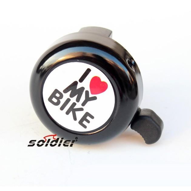 Chuông Xe Đạp Cá Tính I love my bike (Chọn Màu)