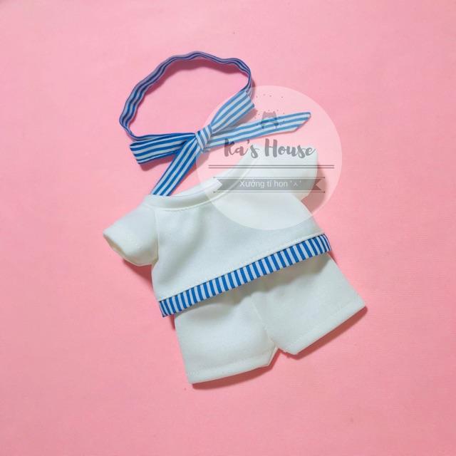 {15cm/20cm} Set áo quần nơ cho doll 15cm, 20cm
