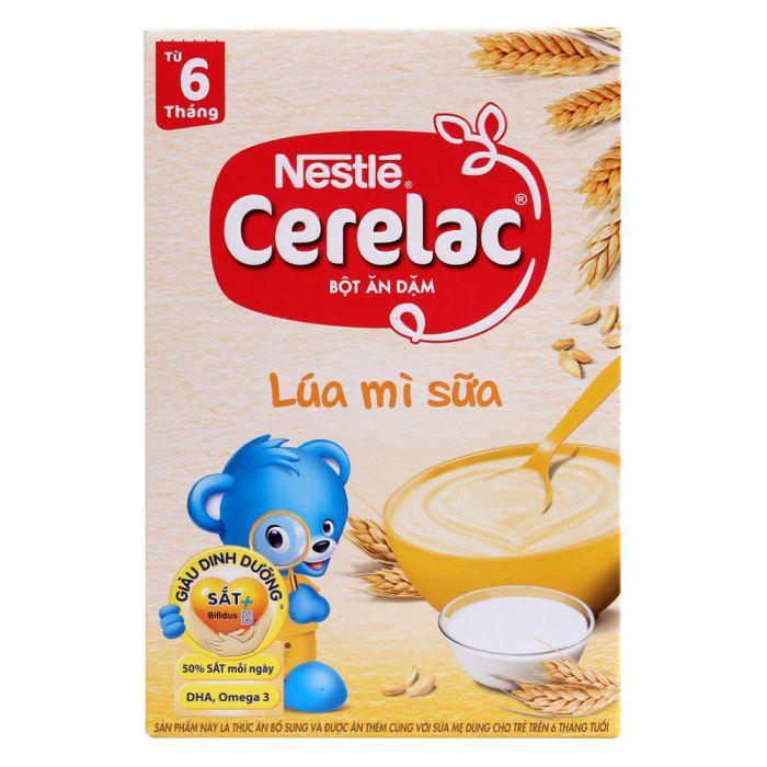 Bột Ăn Dặm Nestle Cerelac - Lúa Mì Và Sữa (Hộp 200gram)