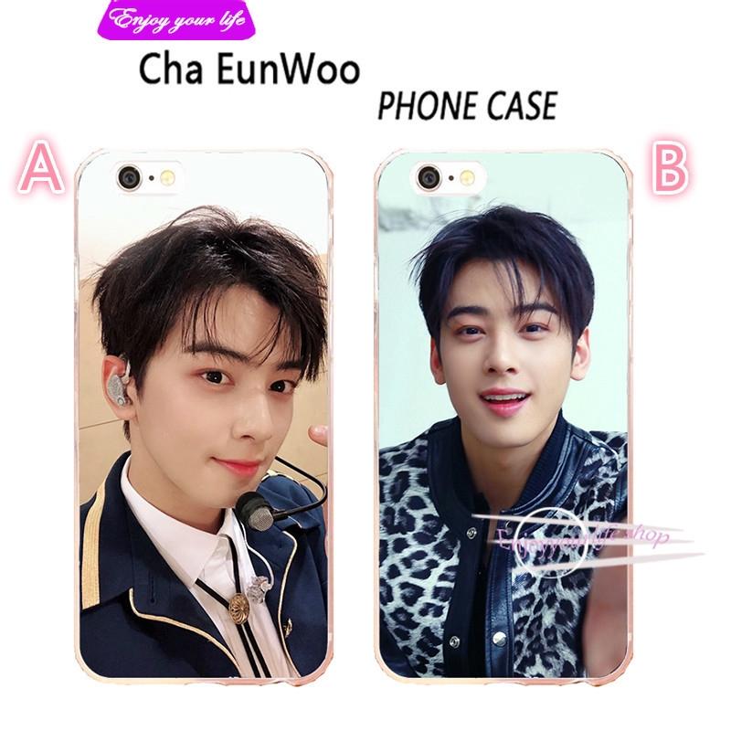 Ốp lưng nhựa Silicone hình Cha Eun Woo dành cho điện thoại iphoneXS xs max xs 8plus 7plus
