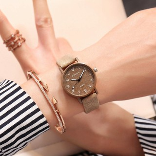 Đồng hồ nữ DOUKO chính hãng, mặt số, dây da mền đeo êm tay, kiểu dáng thời trang, 7 màu dể dàng phối đồ ( Mã: ADK )
