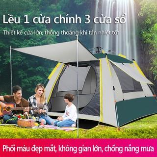 Lều cắm trại cho 3-4 người lều picnic tự động, lều dã ngoại 1 cửa chính 3 cửa sổ, chống nắng chống mưa vinhthuan.shop