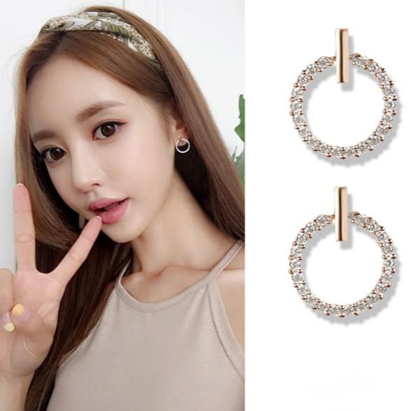 Khuyên Tai Bạc Thư Ký Kim Tròn S925 Phong Cách Hàn Quốc - Shop Trang Sức Bạc Nữ Uy Tín Giao Hàng Nhanh 4h
