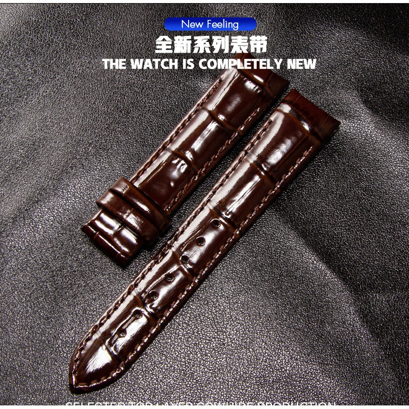 Dây Đeo Đồng Hồ Bằng Da Đầu Cao Su 18mm T035 Cho Nữ