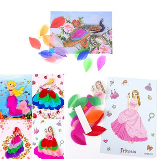 DIY Feather painting Crafts Handmade Game Home Decor Kids Creative Toy