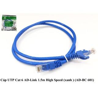 Cáp UTP Cat 6 AD-Link High Speed (xanh ) 1.5m AD-BC 601, 2m AD-BC 602, 3M AD-BC 603, 5M AD-BC 605, CÁP MẠNG BẤM SÃN CAT6