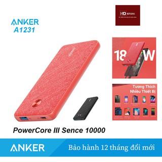 Sạc Dự Phòng ANKER PowerCore III Sence 10000 Sạc nhanh Iphone PD 18W – Mã A1231