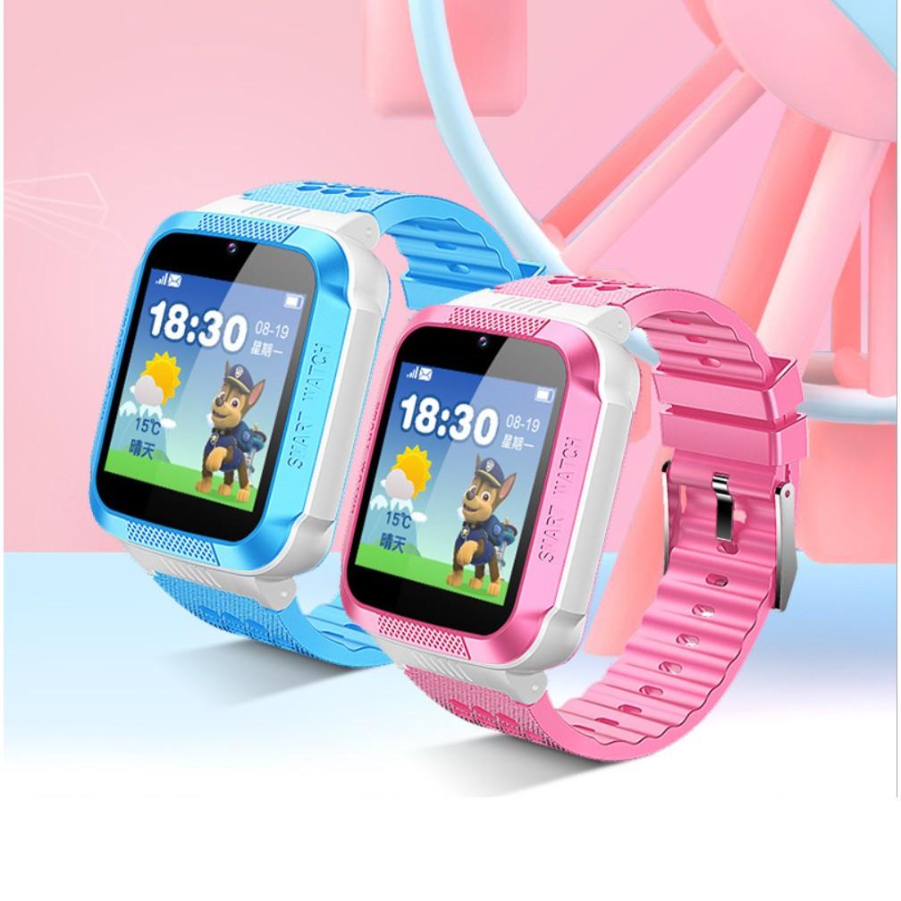 Đồng hồ định vị GPS  Q12, lắp sim, camera, đồng hồ thông minh cho bé chống lạc, bản Tiếng Anh