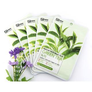 Combo 10 miếng  Mặt nạ dưỡng ẩm trà xanh Hàn Quốc BENEW NATURAL HERB MASK PACK - GREEN TEA