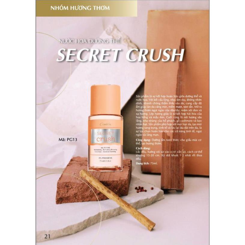 Nước hoa dưỡng thể Cénota Secret Sexy Crush, nước hoa dưỡng thể hương thơm quyến rũ - PG13 Shizuka
