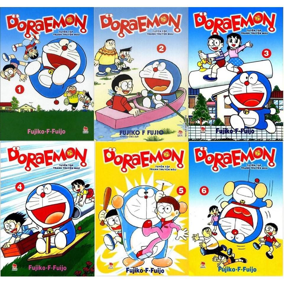 Truyện tranh - Doraemon tuyển tập truyện tranh màu (trọn bộ 6 tập) - NXB  KIm Đồng tại Hà Nội