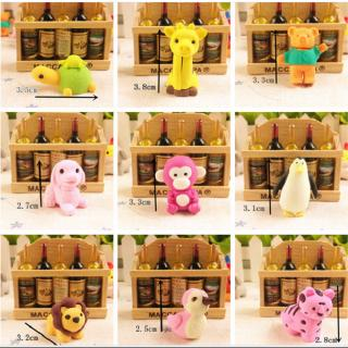 Thinkmax 30pcs Animal Shape Rubber Erasers Simulation Toy Set for Kids, Food Grade Material TPR,