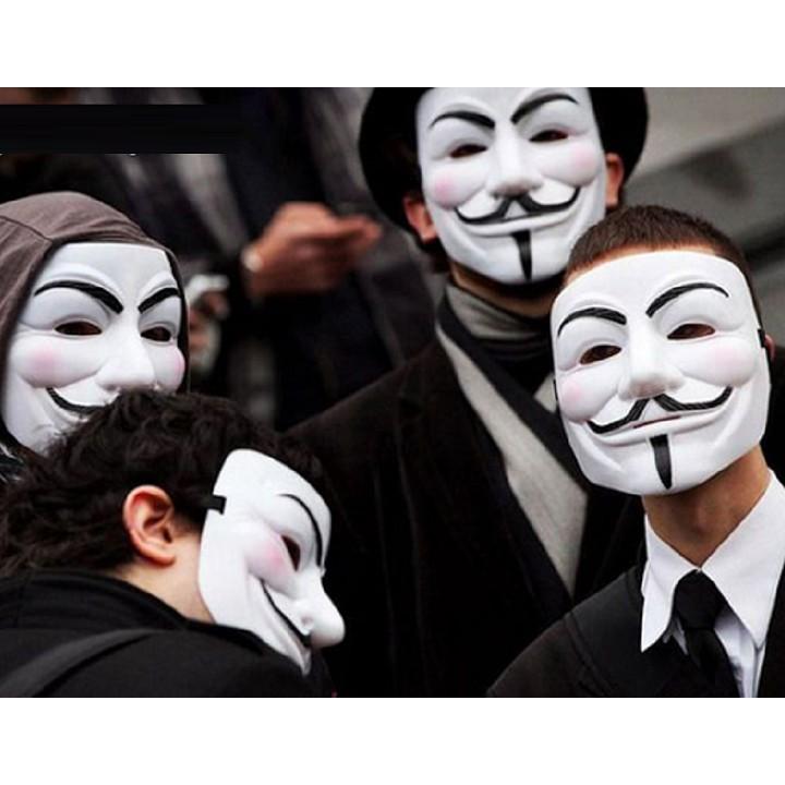 Đồ chơi hóa trang mặt nạ hacker (trắng) V113