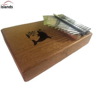 17 Keys Kalimba Portable Thumb Piano Mahogany Body Solid Wood Musical Instrument Delicate Mbira