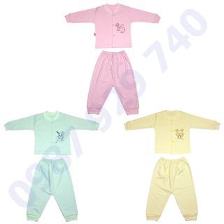 Combo 3 Bộ quần áo thu đông cao cấp chất nỉ mềm mịn cho bé trai, bé gái từ 3-13kg -3BNM bộ quần áo cho bé