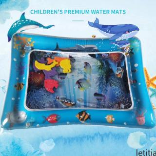 Inflatable Water Mat For Baby Infant Toddlers Mattress Splash Playmat Tummy Time letitia