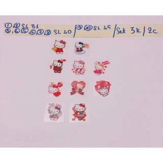 Set 2 Sticker ủi,hình ủi,patch ủi kitty mini