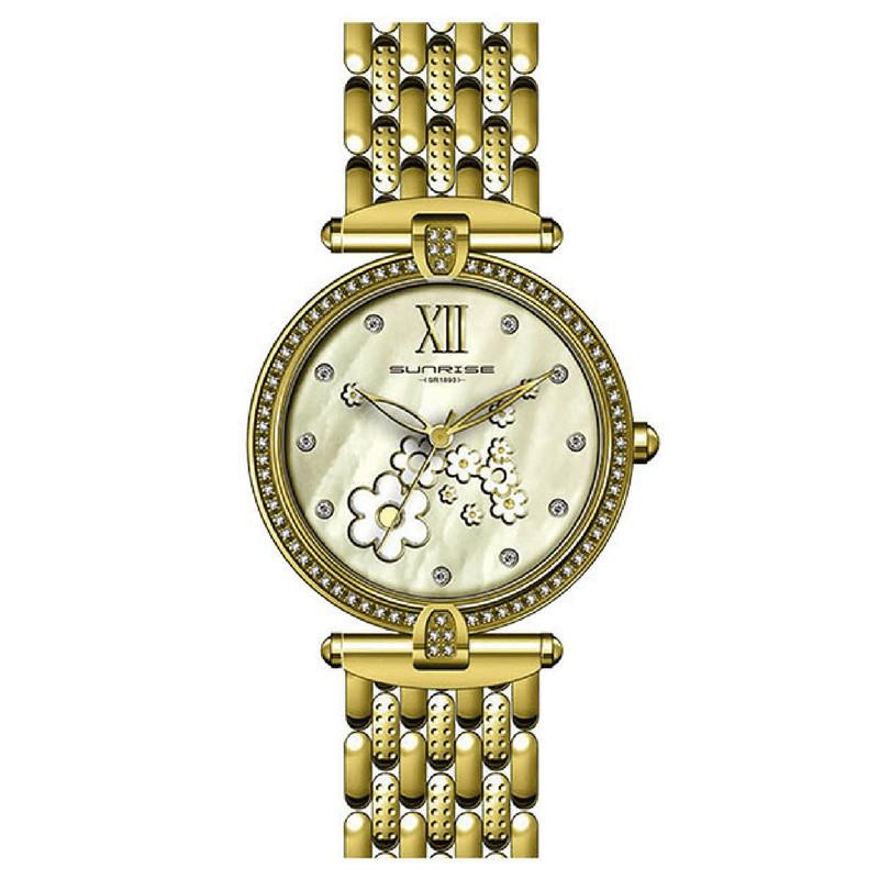Đồng hồ nữ Sunrise CHÍNH HÃNG SL2841, DÂY KIM LOẠI