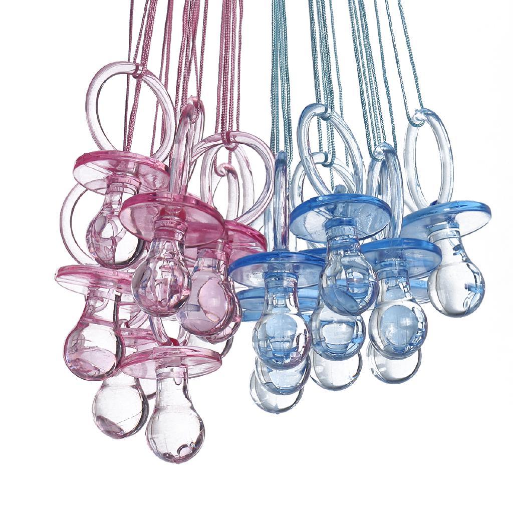 Pacifier Necklaces Baby Shower Game Favors Prizes Decoration Pick Color