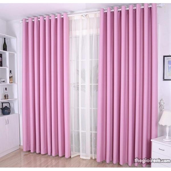 Rèm cửa màu hồng phấn, rèm màu hồng phấn, rèm cửa sổ màu hồng phấn, rèm cửa giá rẻ màu hồng phấn