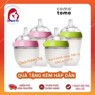 Bình Sữa COMOTOMO❣️CHECK HIDDEN TAG CHÍNH HÃNG❣️Tách Sét Từ Bộ Đôi 2 Bình 150ml/250ml Hồng và Xanh