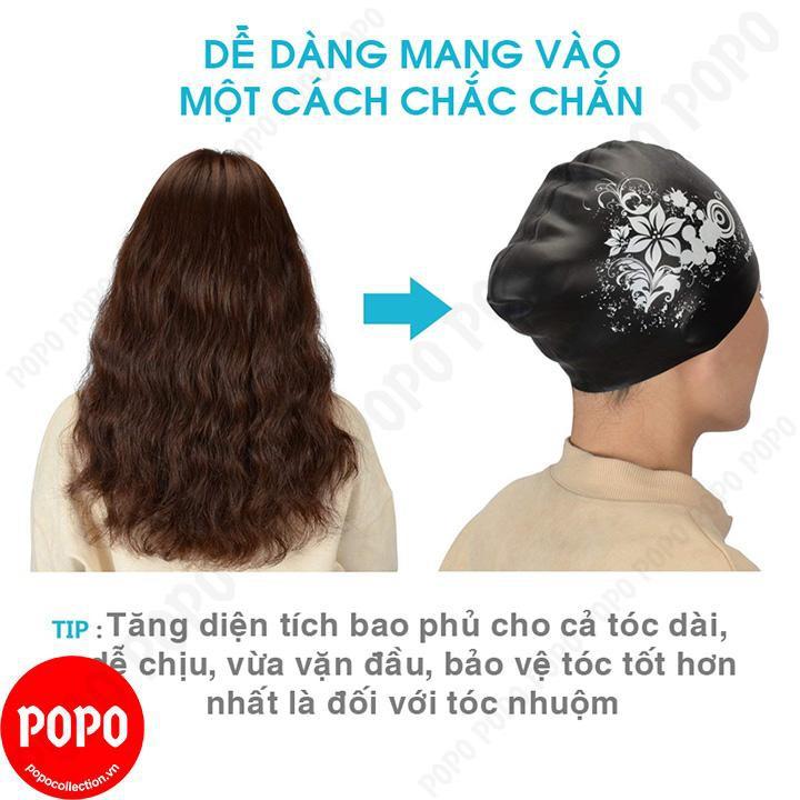 Mũ bơi, nón bơi cho nữ, trùm được tóc dài ôm trọn búi tóc chống vào nước POPO Collection CA35 Đen - 3050636 , 1293103520 , 322_1293103520 , 149000 , Mu-boi-non-boi-cho-nu-trum-duoc-toc-dai-om-tron-bui-toc-chong-vao-nuoc-POPO-Collection-CA35-Den-322_1293103520 , shopee.vn , Mũ bơi, nón bơi cho nữ, trùm được tóc dài ôm trọn búi tóc chống vào nước POP
