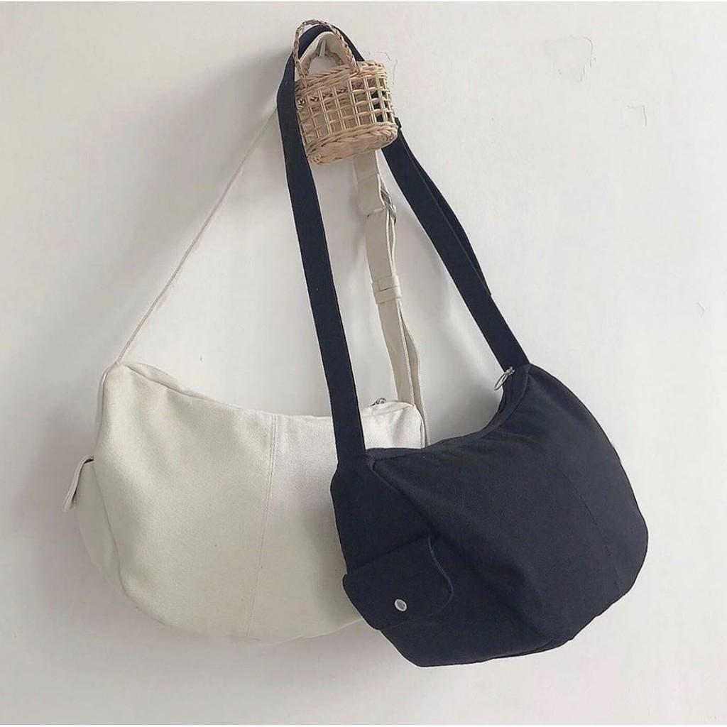 [RẺ VÔ ĐỊCH] Túi tote đeo chéo có hộp bên unisex Hàn Quốc