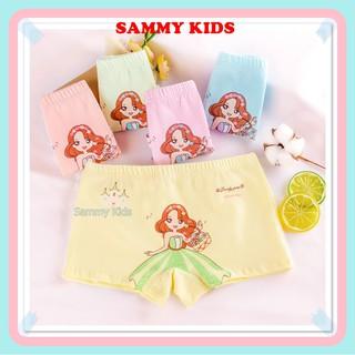 Quần chip đùi, quần lót cotton họa tiết đáng yêu xinh xắn cho bé gái Sammy Kids