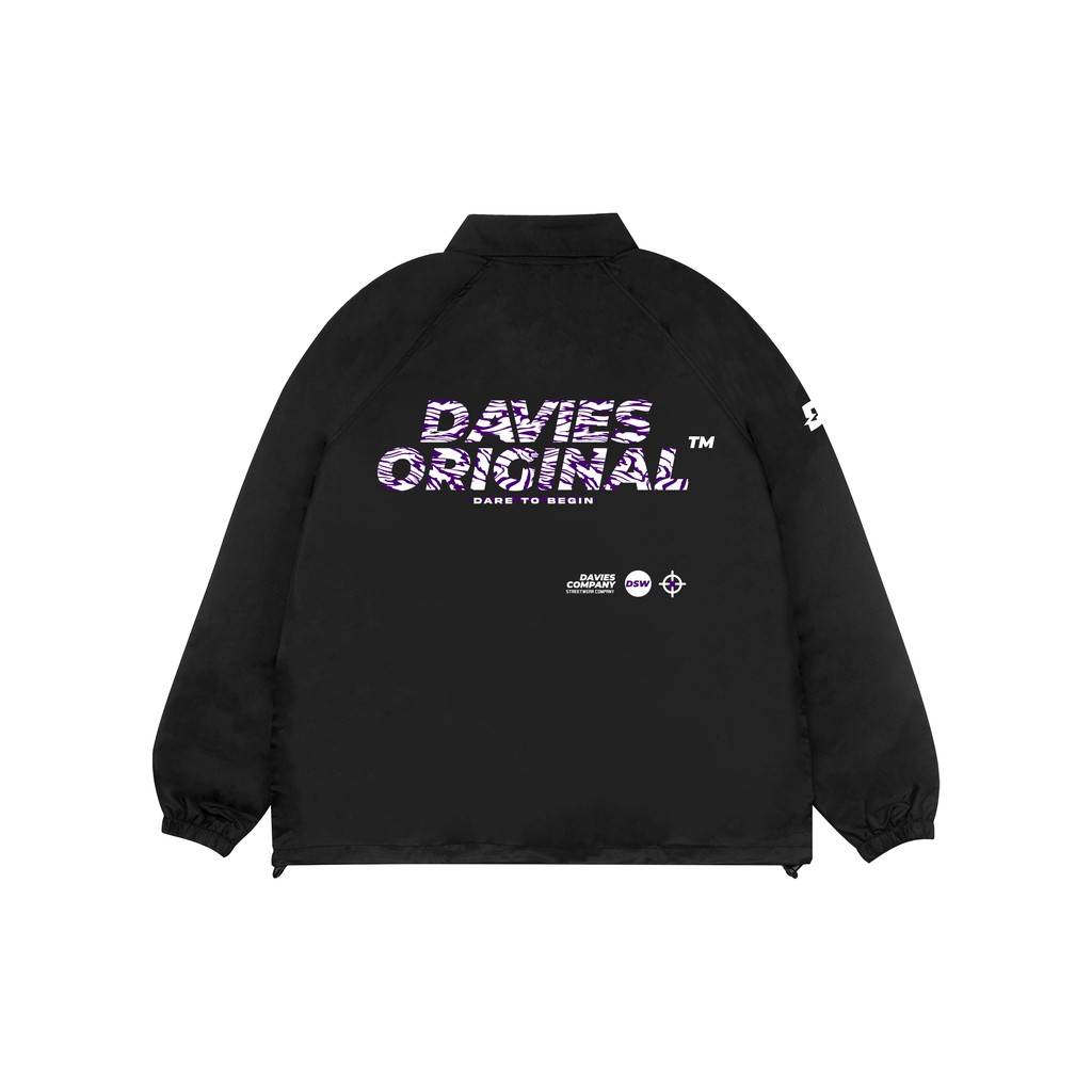 [Tặng_túi_tote] DAVIES - Áo khoác dù unisex form rộng màu đen - Weapon Mark 2 Jacket
