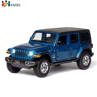 FATES Simulation 1:32 Model Car Open Door with Sound Light Toy for Wrangler Jeep
