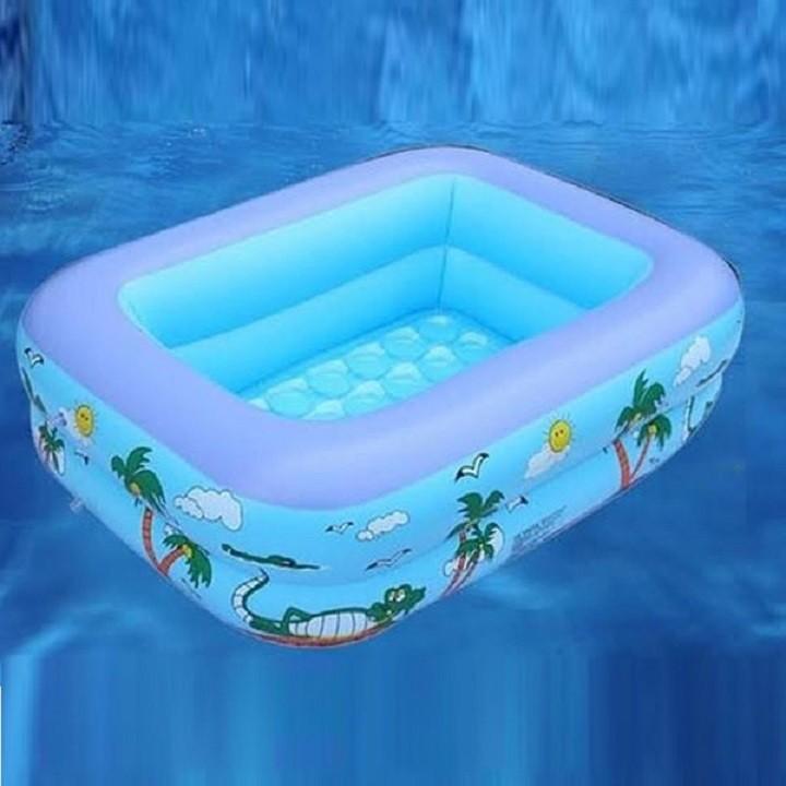 Bể Bơi Hình Chữ Nhật 2 Tầng Dài 1,2m Cho Bé