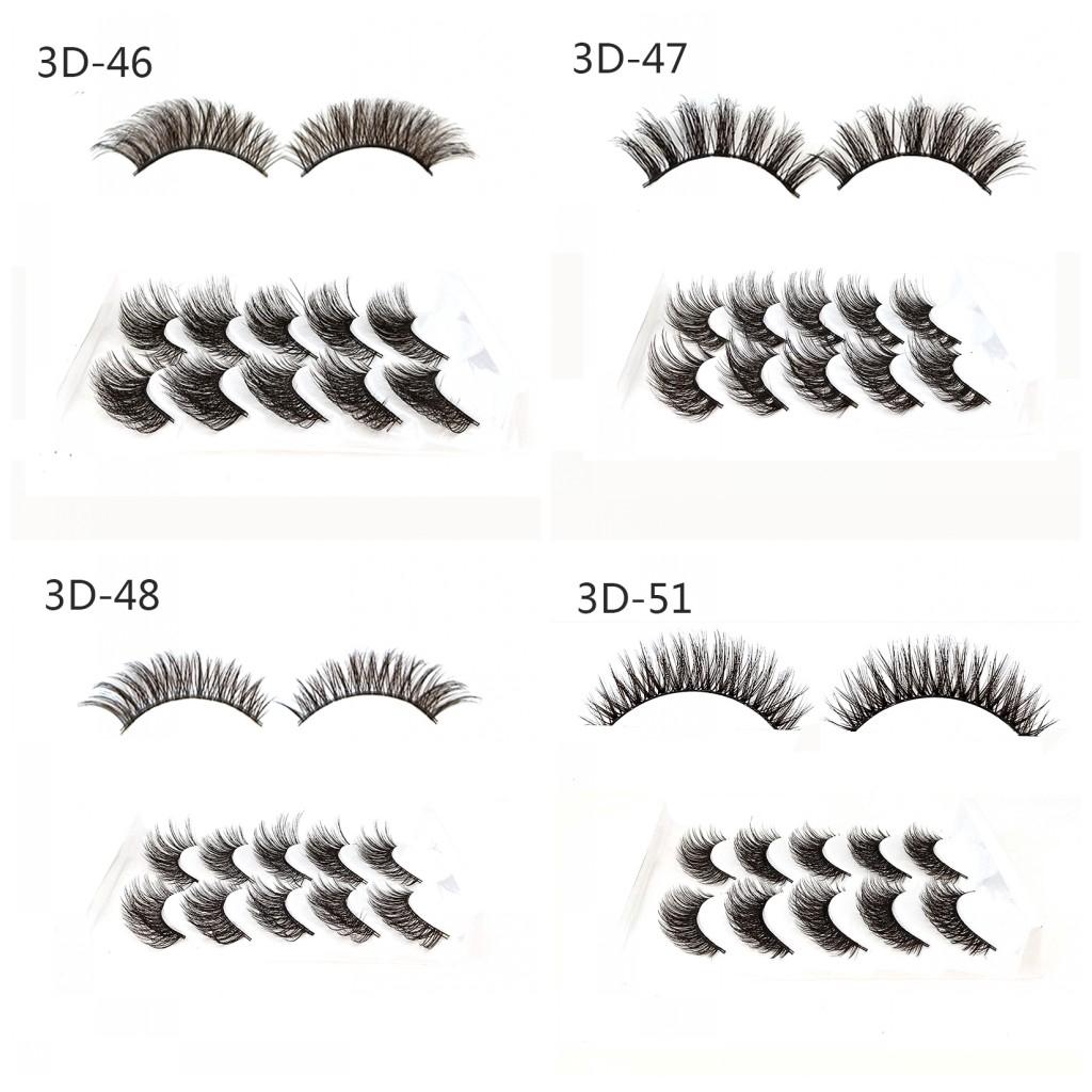 Bộ 5 cặp lông mi giả kiểu dáng 3D có thể tái sử dụng